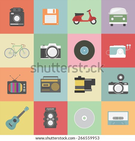 set of classic icon  hipster