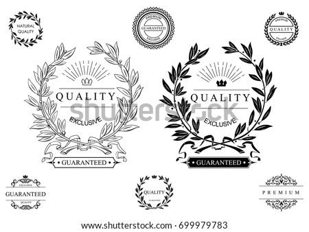 set of classic seals  emblems
