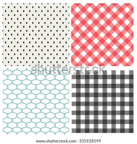 set of classic seamless pattern