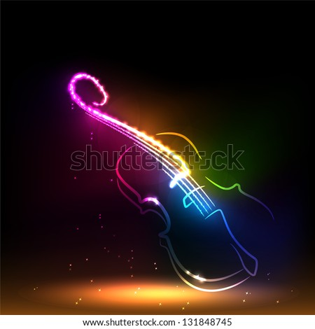 Set of classical musical violins instruments in silhouette style, such as emblem.
