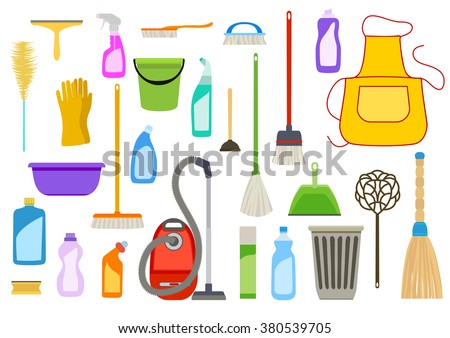 Hand Drawn Vector Cleaning Service Stock Photo 355587392