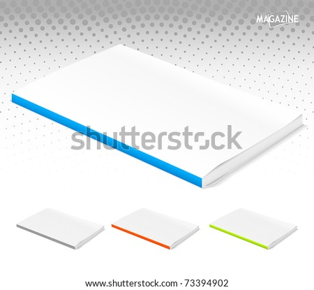 Set of closed magazines - stock vector