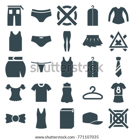set of 25 clothes filled icons