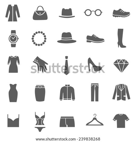 set of clothes icons clothing