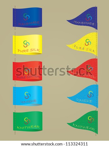 Set of clothing labels - stock vector