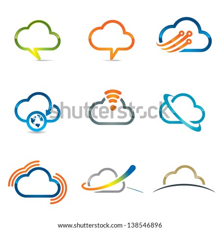 set of cloud icons 2
