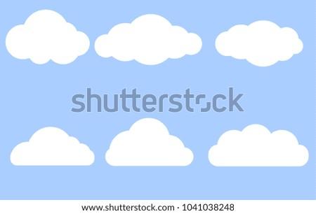 Trendy Cloud Icon Set Download Gratis Vectorkunst En Andere
