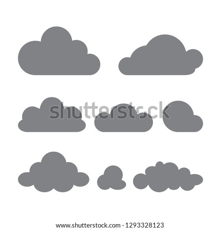 set of clouds of different