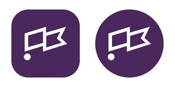 Set of Clubhouse icons in different shapes. Social network community. Vector
