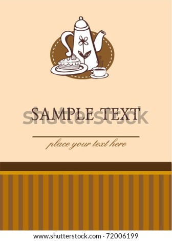 Set of coffee doodled illustrations in sepia color style - stock vector