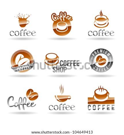 Set of coffee icons. Set 1.