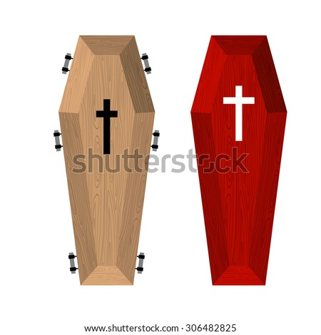 set of coffins red beautiful