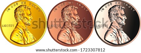 set of coins made of different