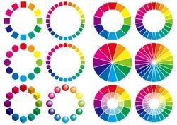 Set of color chart