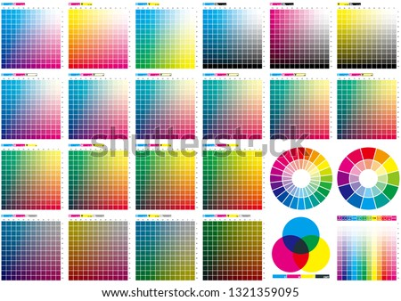 Set of color chart Foto d'archivio ©