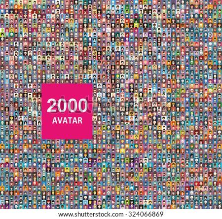 set of 2000 color diferent