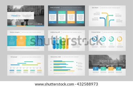 Set of color infographic elements for presentation templates. Leaflet, Annual report, book cover design. Brochure, layout, Flyer layout template design. Easy to edit.
