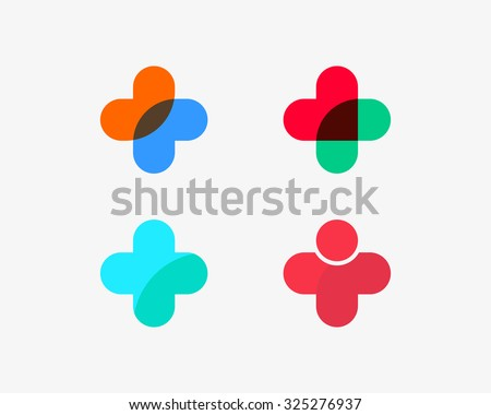 set of color medical logotype