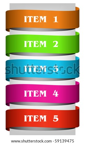 Set of color ribbons. Place for your text.
