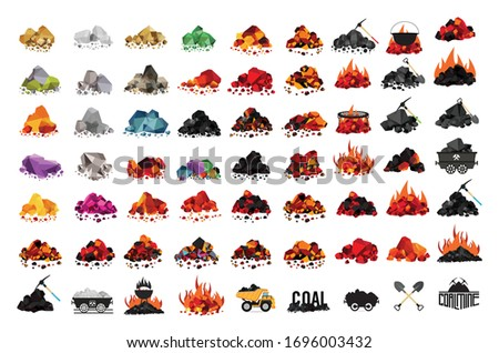 set of color rocks with with