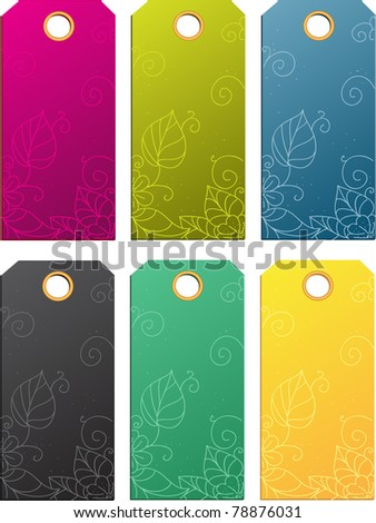 Set of color sale tags - stock vector