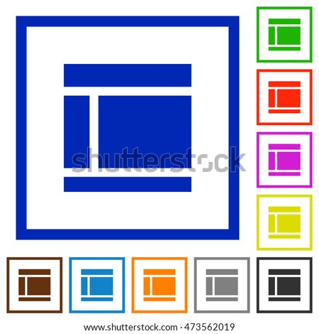 set of color square framed two