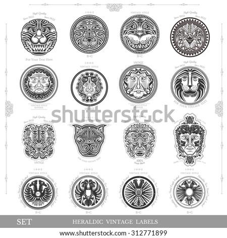 set of color vintage royal...