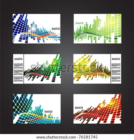 set of colored abstract