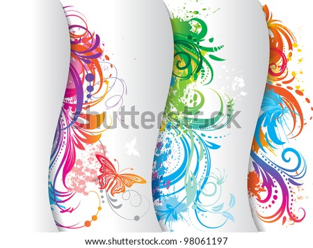 Set of colored banner. - stock vector