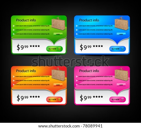 Set of colored banners-vector