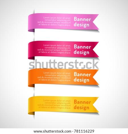 set of colored decorative arrow