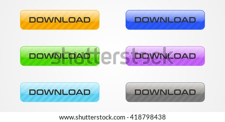 Set of colored download buttons #418798438