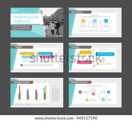 set of colored infographic