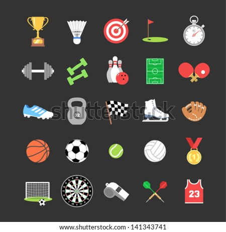 Set of colored sport icons
