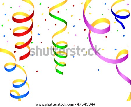 set of colored streamers