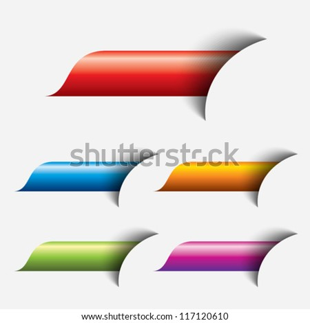 set of colored web button