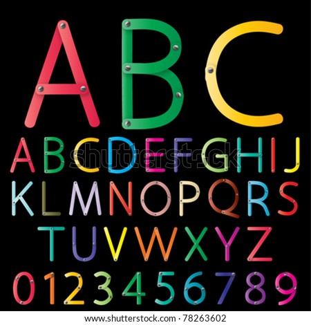 Set of colorful alphabet vector