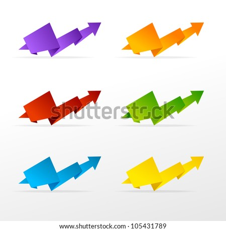 set of colorful arrow