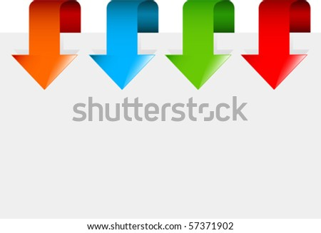 Set of colorful arrows pointing at the item