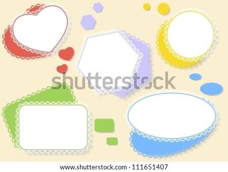 set of colorful balloons of different shapes with shadow