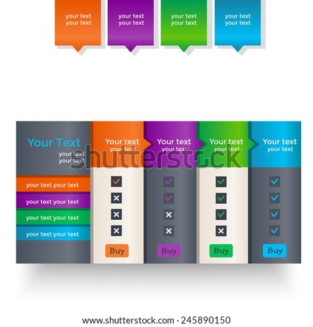 Set of colorful banners on a light background