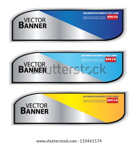 Set of colorful banners,Vector