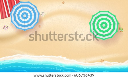 set of colorful beach sun