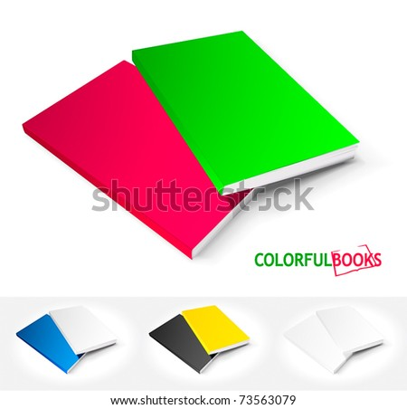 Set of colorful books