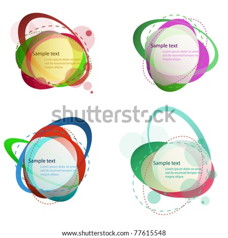 Set of colorful  bubble speech. Vector illustration.