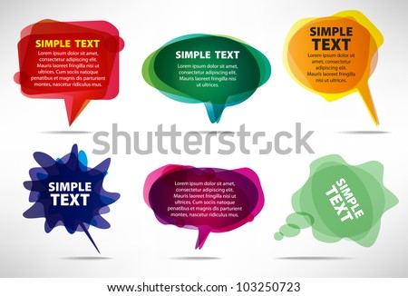 set of colorful bubbles - stock vector