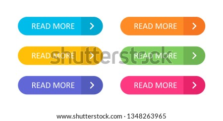 Set of colorful buttons with icons isolated on white background for websites and applications in flat style. EPS 10 #1348263965