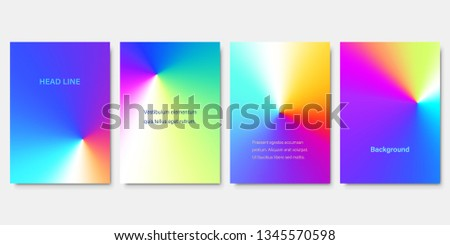 Set of Colorful Conical Gradient Backgrounds. Minimalistic Cover Design for Branding, Banners, Posters and Brochures. EPS10.