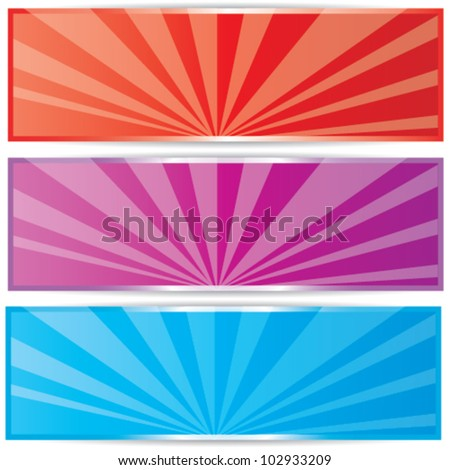 Set of colorful empty vector banners
