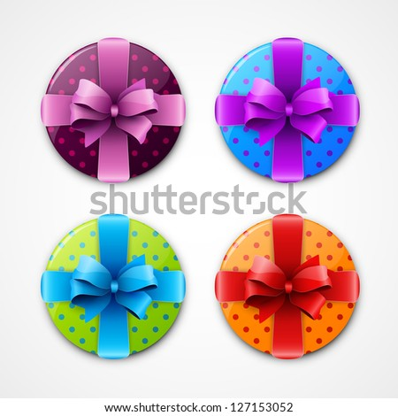 Set of colorful gift box icons